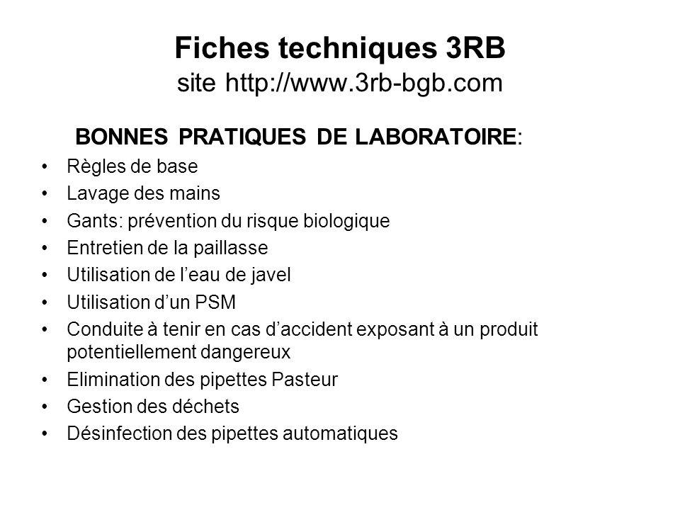 Fiches techniques 3RB site http://www.3rb-bgb.com