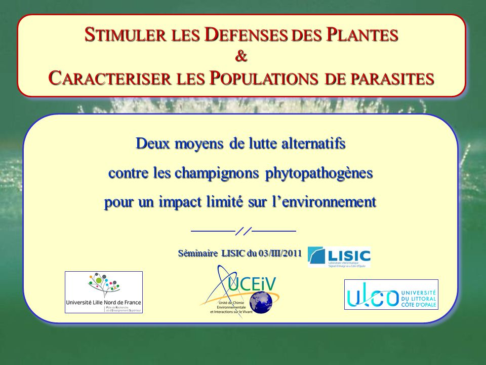 STIMULER LES DEFENSES DES PLANTES