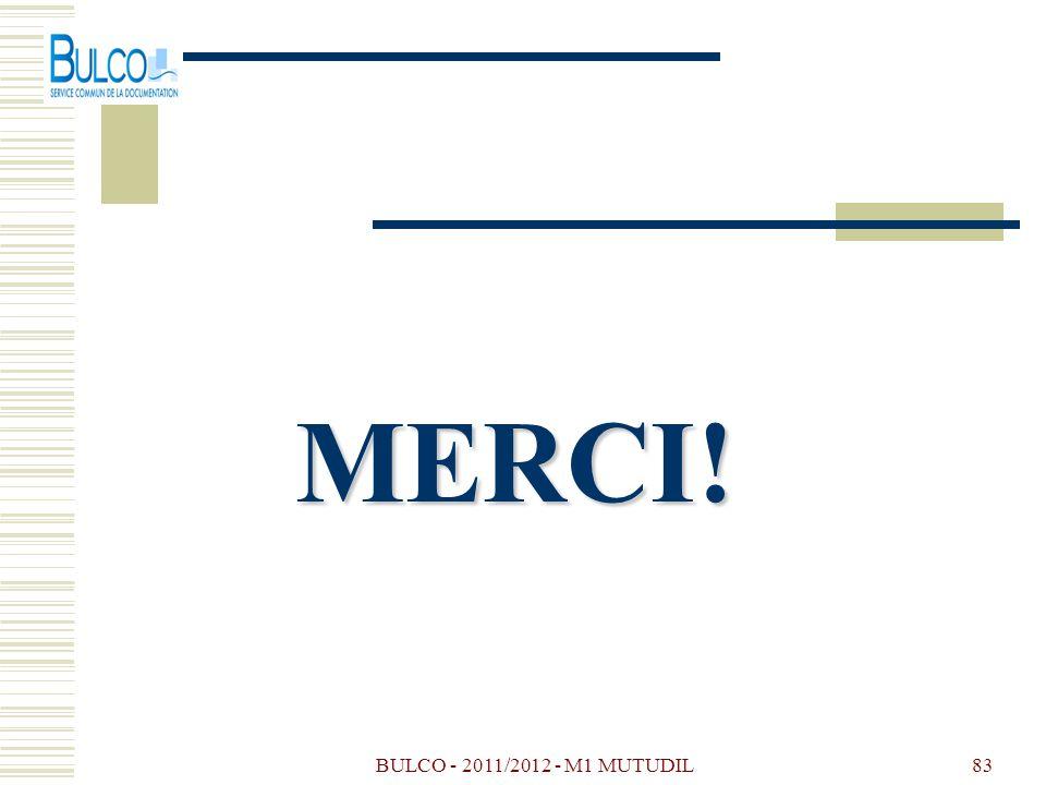 MERCI! BULCO - 2011/2012 - M1 MUTUDIL