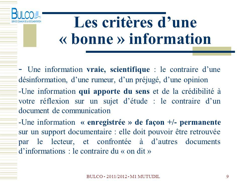 Les critères d'une « bonne » information