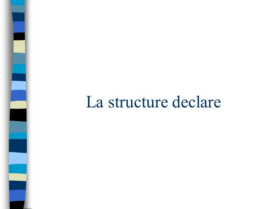 La structure declare