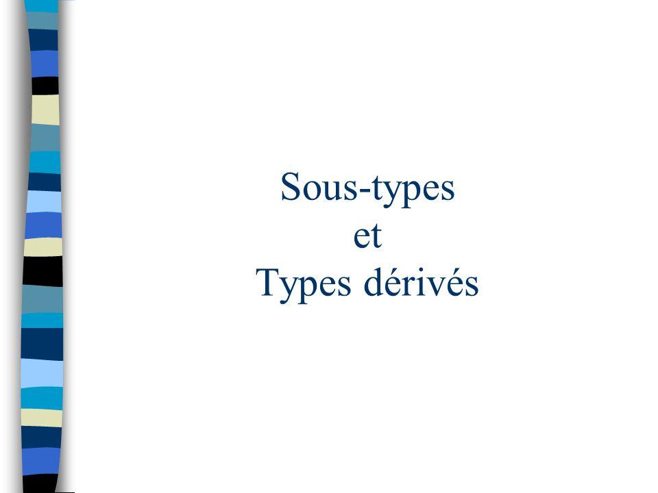Sous-types et Types dérivés