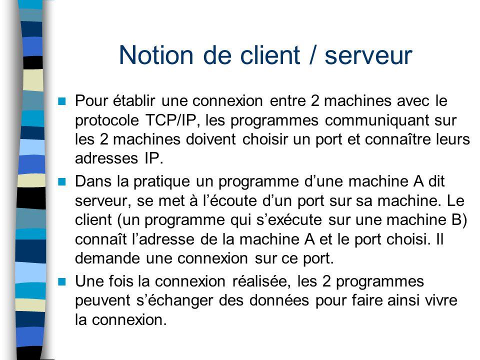 Notion de client / serveur
