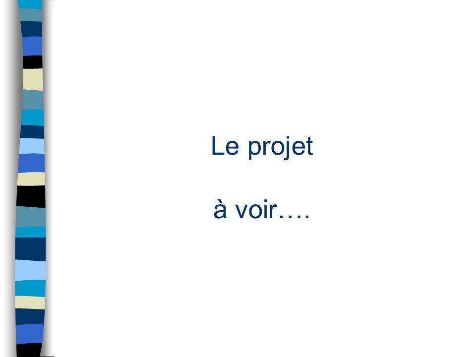 Le projet à voir….