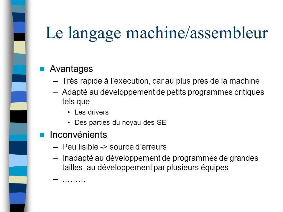 Le langage machine/assembleur