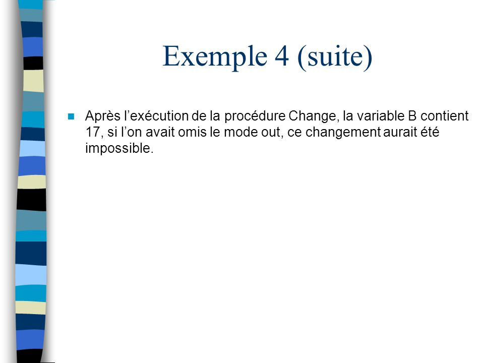 Exemple 4 (suite)