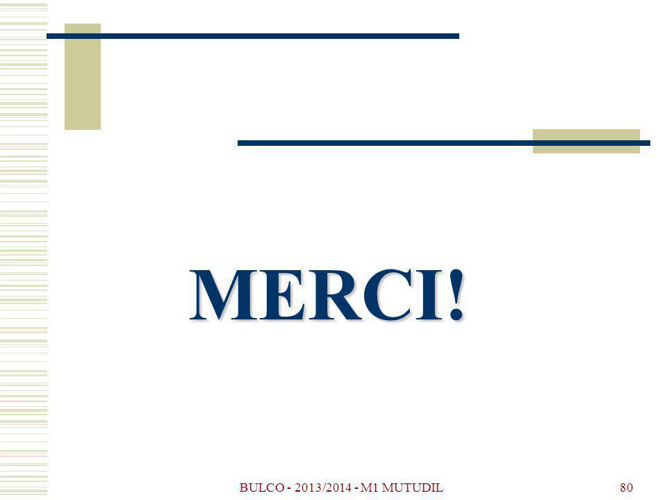 MERCI! BULCO - 2013/2014 - M1 MUTUDIL