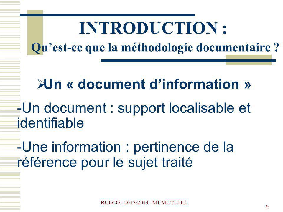 INTRODUCTION : Qu'est-ce que la méthodologie documentaire
