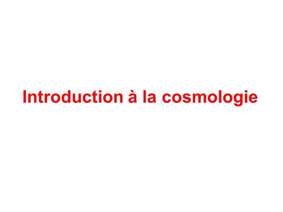 Introduction à la cosmologie