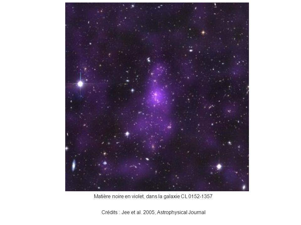 Matière noire en violet, dans la galaxie CL 0152-1357