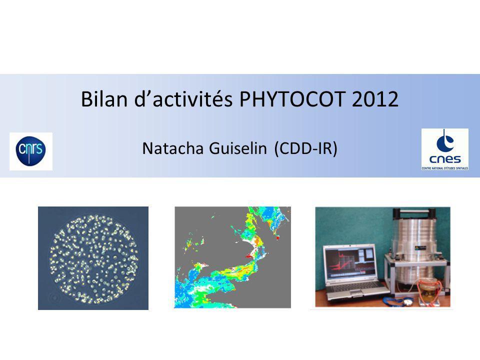 Bilan d'activités PHYTOCOT 2012