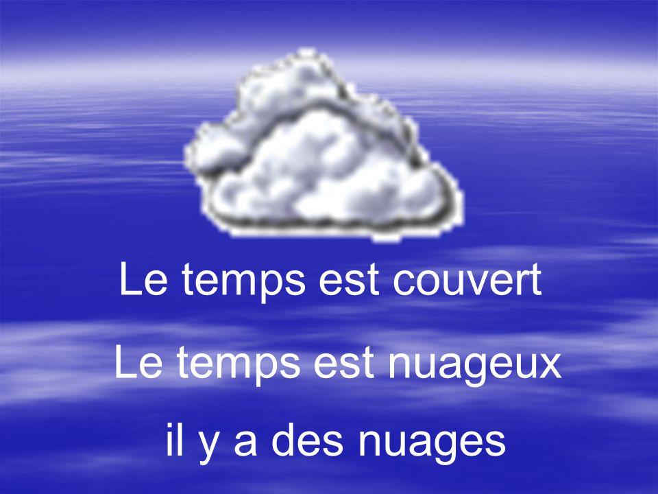 Le temps est couvert Le temps est nuageux il y a des nuages