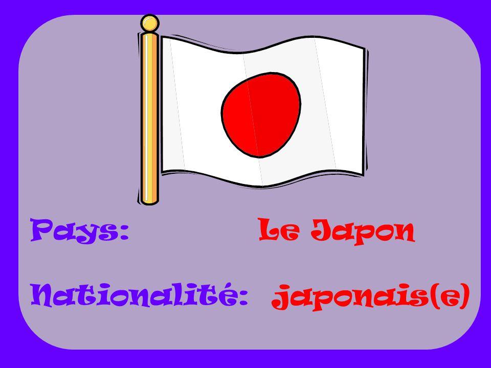 Pays: Nationalité: Le Japon japonais(e)