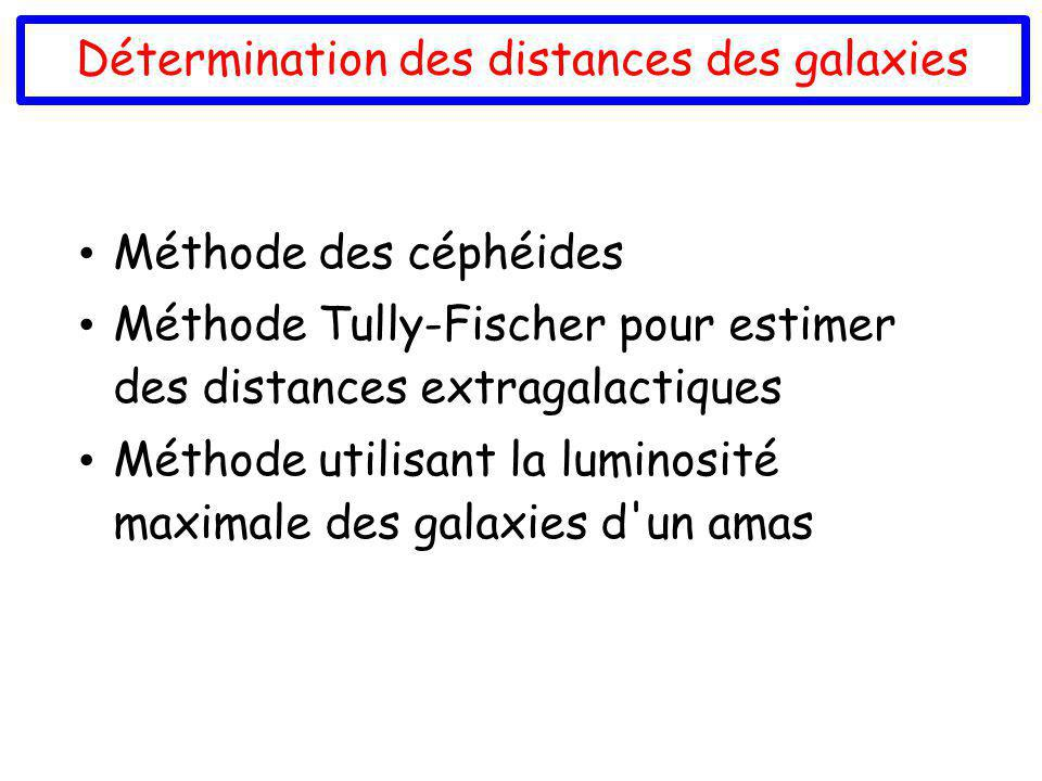 Détermination des distances des galaxies