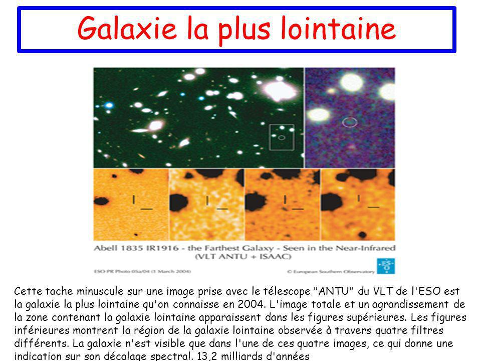 Galaxie la plus lointaine