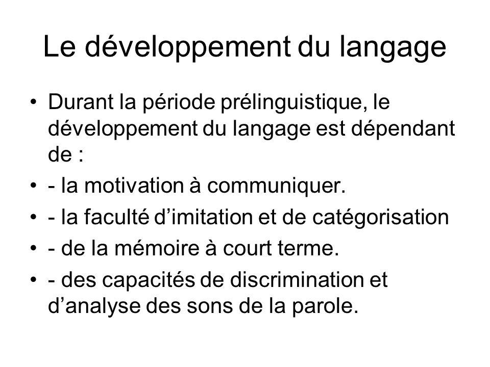 Le développement du langage