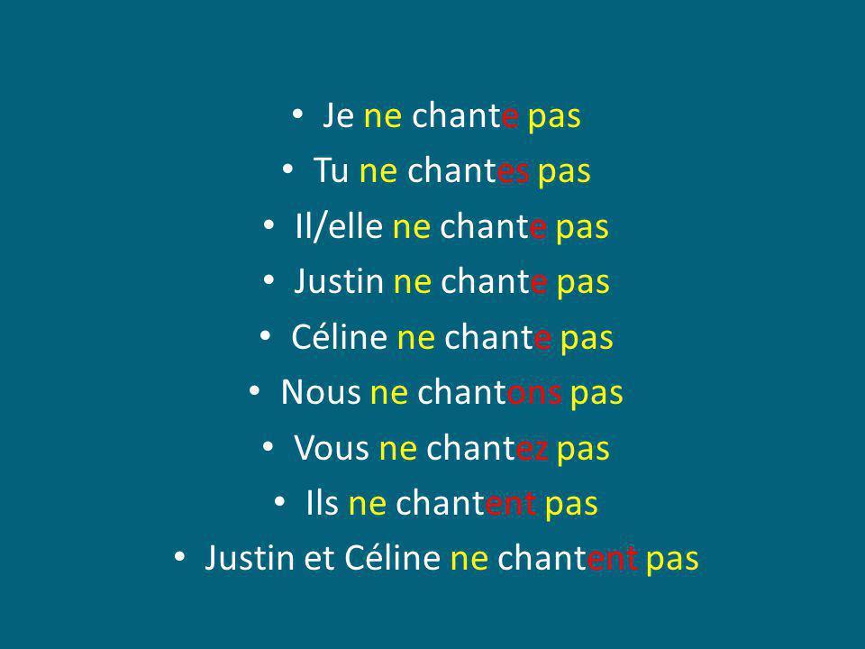Justin et Céline ne chantent pas