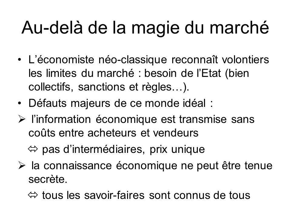 Au-delà de la magie du marché