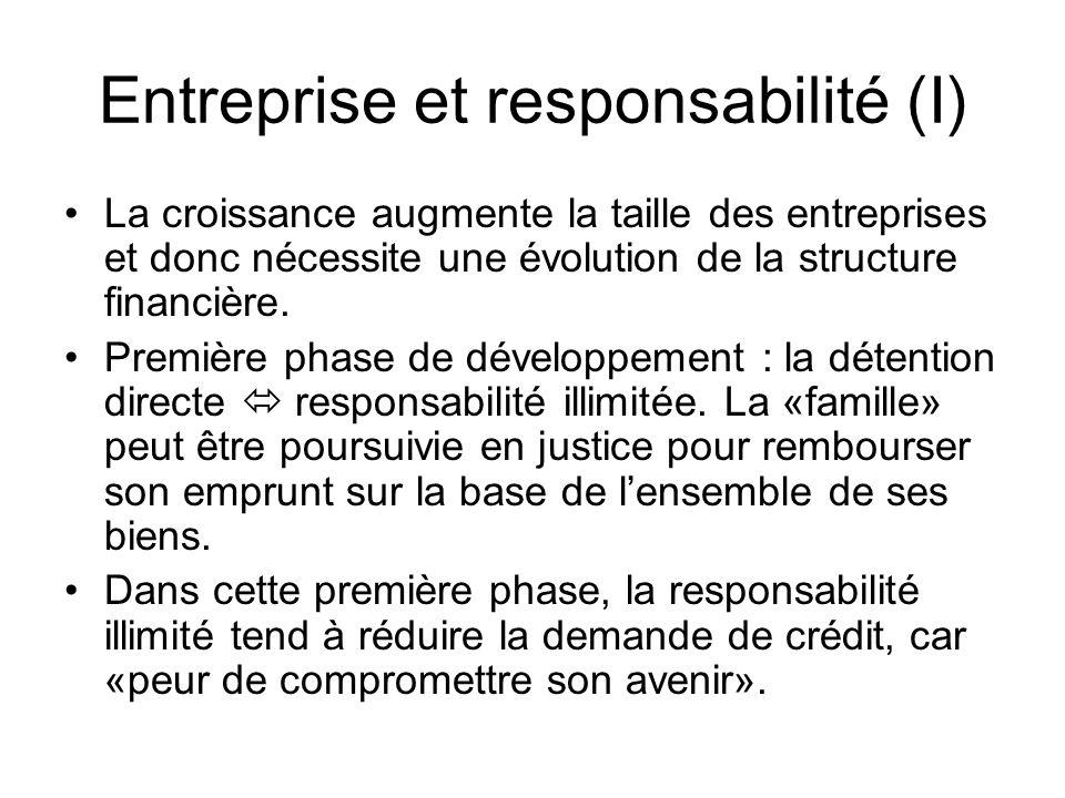 Entreprise et responsabilité (I)