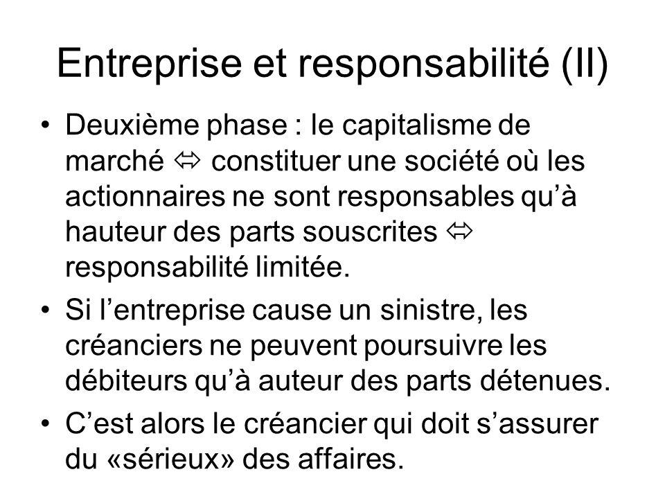 Entreprise et responsabilité (II)