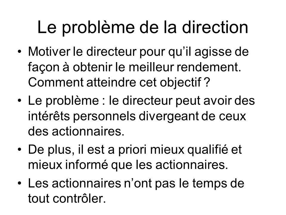Le problème de la direction