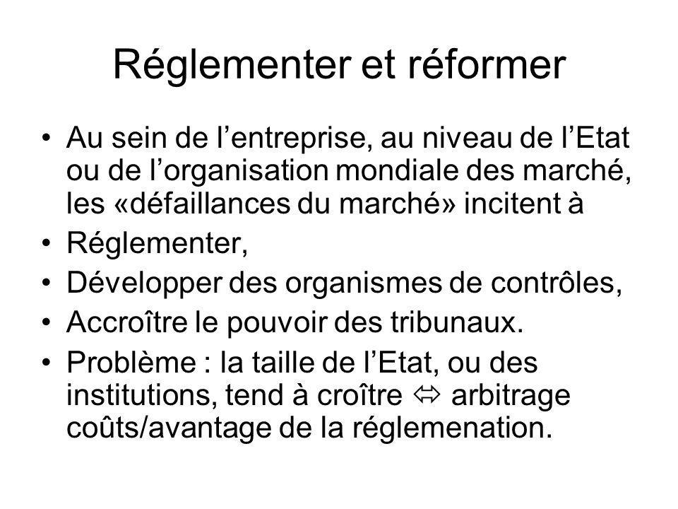 Réglementer et réformer