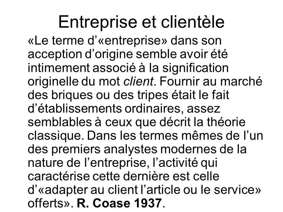 Entreprise et clientèle