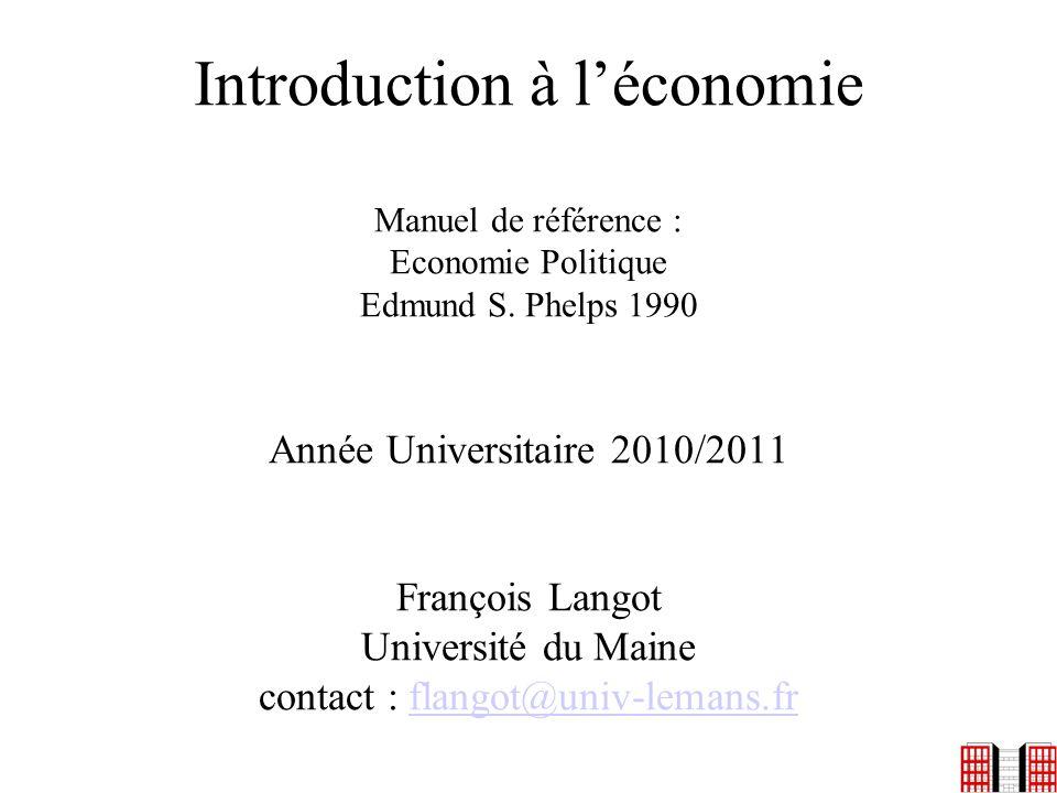 Introduction à l'économie Manuel de référence : Economie Politique Edmund S.