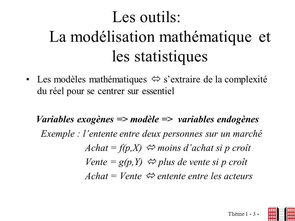 Les outils: La modélisation mathématique et les statistiques