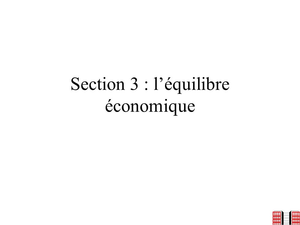 Section 3 : l'équilibre économique