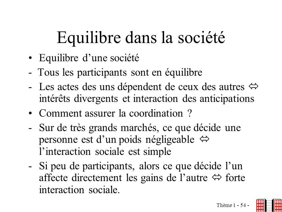 Equilibre dans la société
