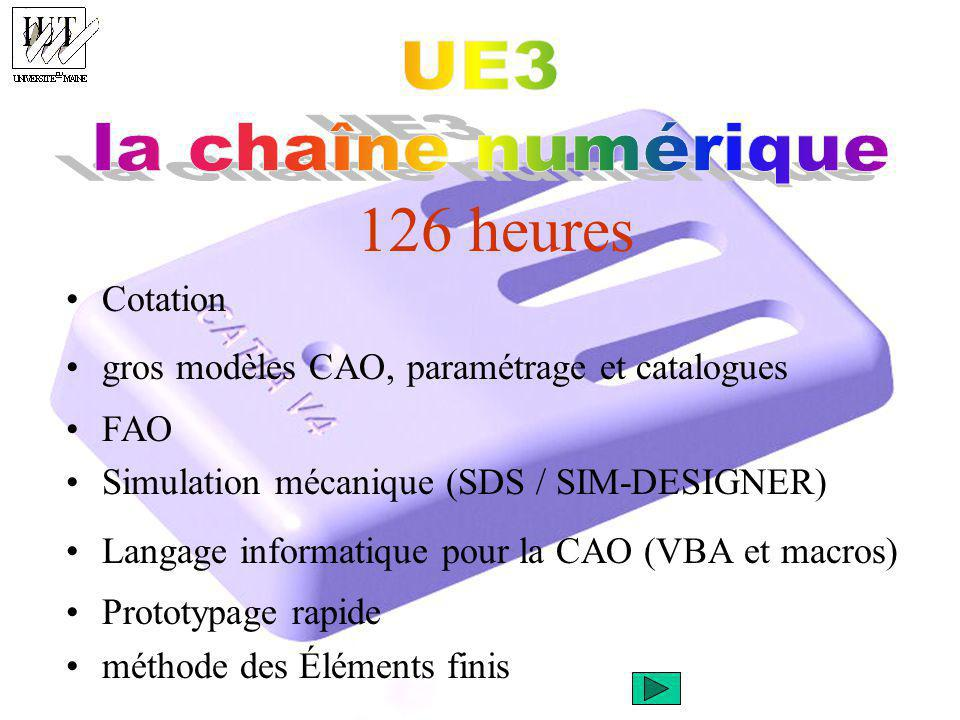 126 heures UE3 la chaîne numérique Cotation