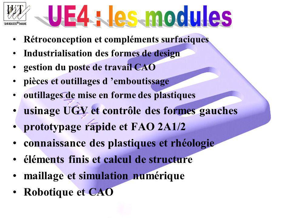 UE4 : les modules usinage UGV et contrôle des formes gauches