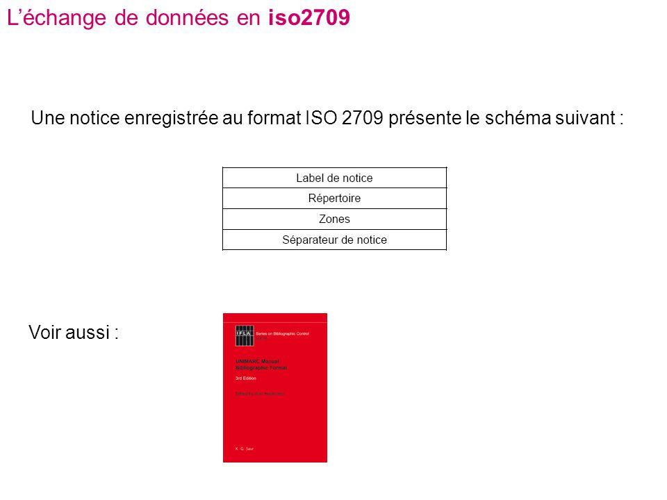 L'échange de données en iso2709