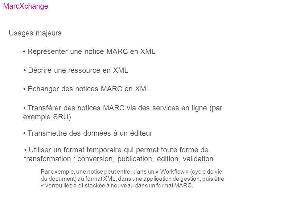 Représenter une notice MARC en XML