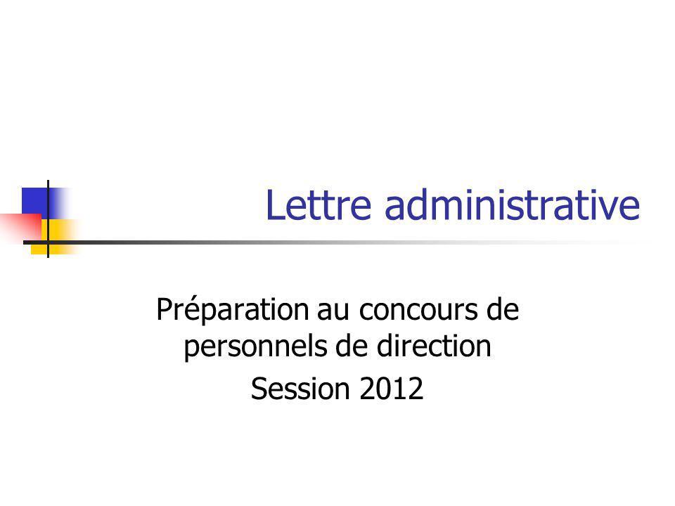 Lettre administrative