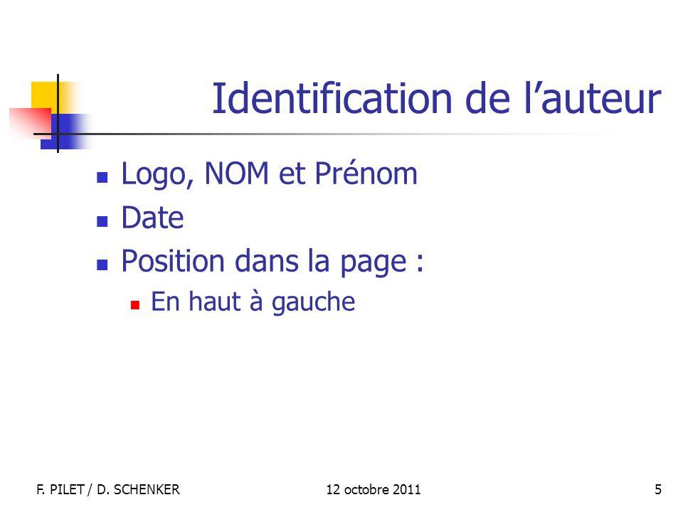 Identification de l'auteur