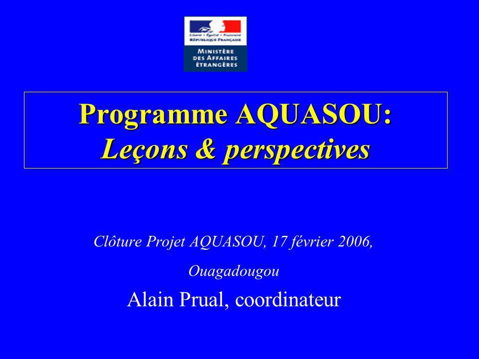Programme AQUASOU: Leçons & perspectives