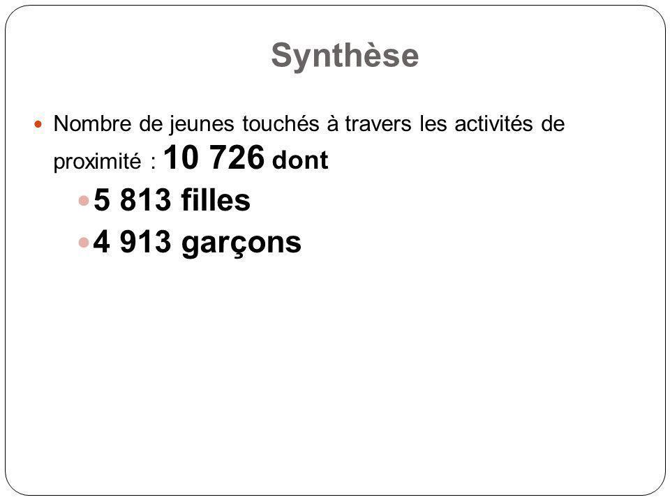 Synthèse 5 813 filles 4 913 garçons