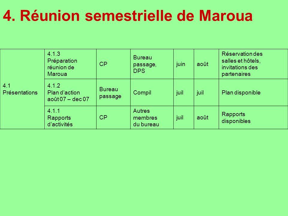 4. Réunion semestrielle de Maroua