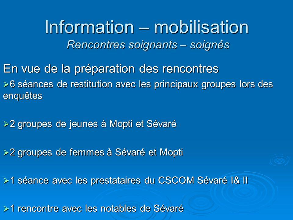 Information – mobilisation Rencontres soignants – soignés