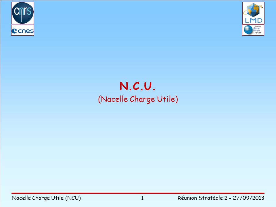 N.C.U. (Nacelle Charge Utile)