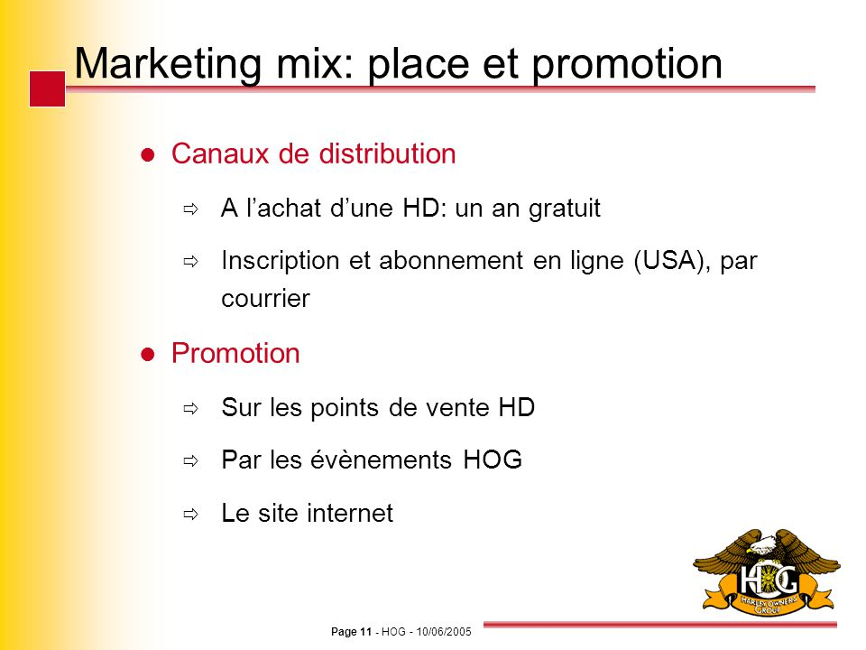 Marketing mix: place et promotion