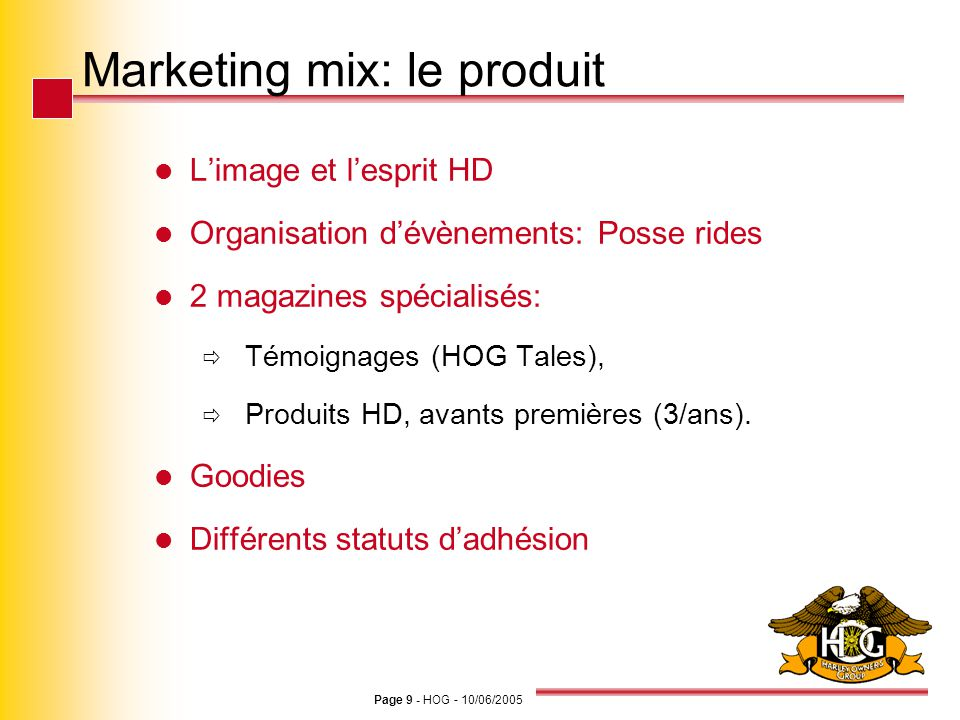 Marketing mix: le produit