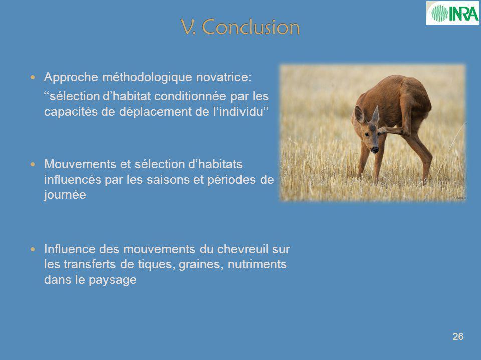 V. Conclusion Approche méthodologique novatrice: