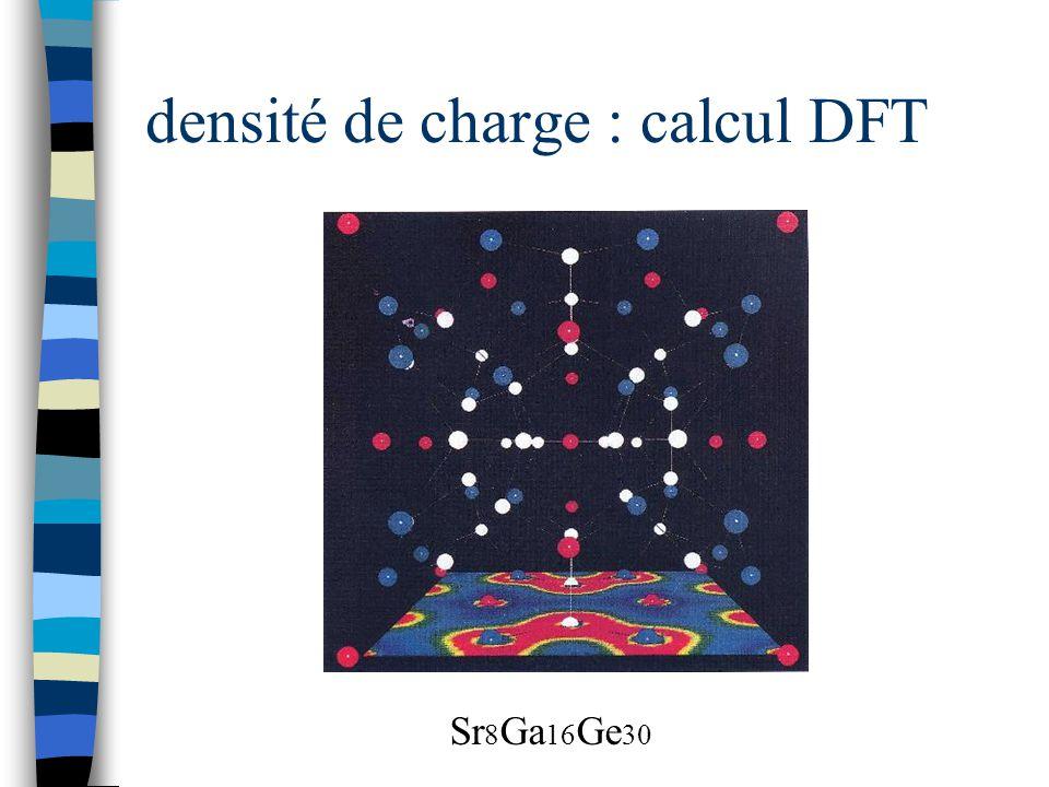 densité de charge : calcul DFT