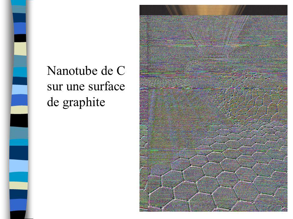 Nanotube de C sur une surface de graphite