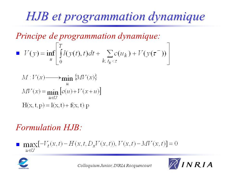 HJB et programmation dynamique