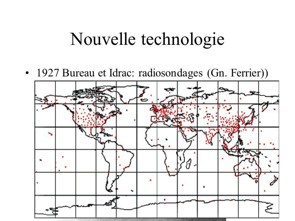 Nouvelle technologie 1927 Bureau et Idrac: radiosondages (Gn. Ferrier))