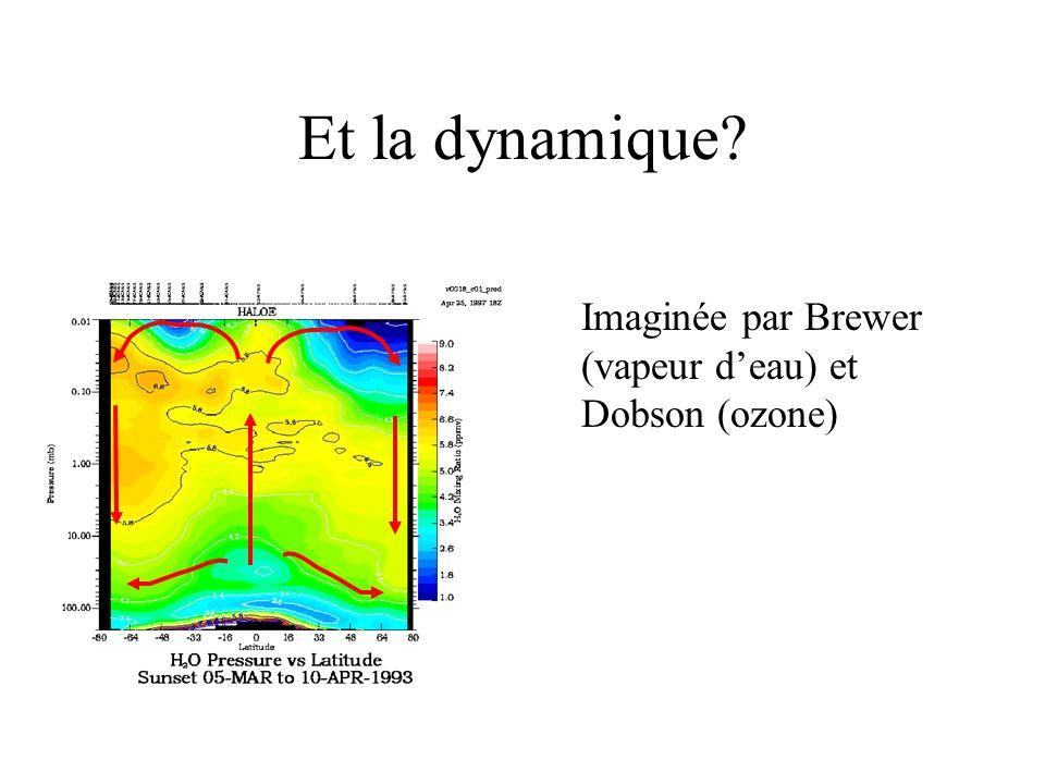 Et la dynamique Imaginée par Brewer (vapeur d'eau) et Dobson (ozone)